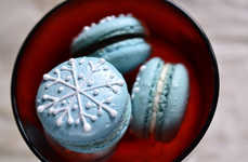 Snowflake Macarons - These Wintry Treats are a Nice Accompaniment with Hot Chocolate