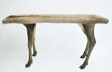 Lifelike Taxidermy Tables