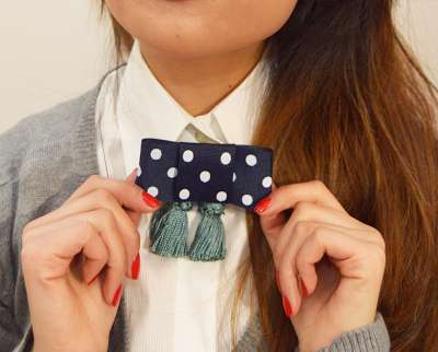 Fringed Bow Tie Tutorials - The DIY Bow and Tassel Collar is a Mix of Boho and Chic Fashions
