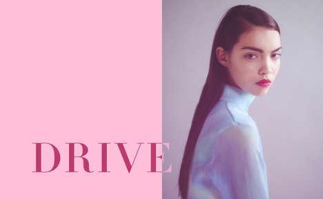Effervescent Geisha Editorials - The Claire Huish 'Drive' Photoshoot Mixes Contemporary with Retro