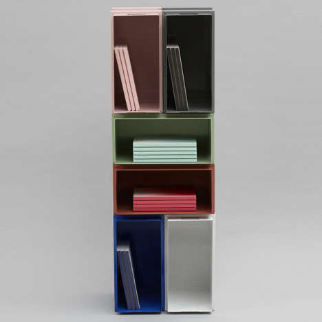 Colorfully Modular Bookcases