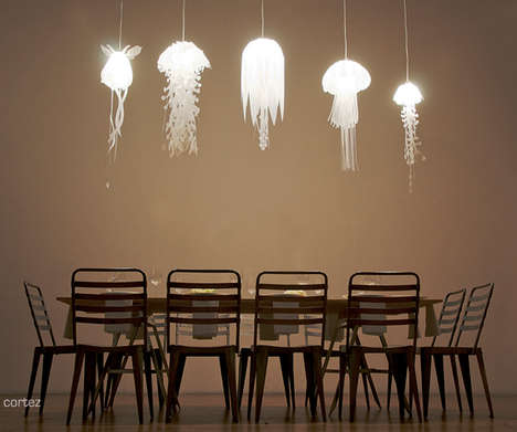 Jellyfish Pendant Lamps - Roxy Russell Medusae Collection Provides Mood Lighting with Sea Creatures