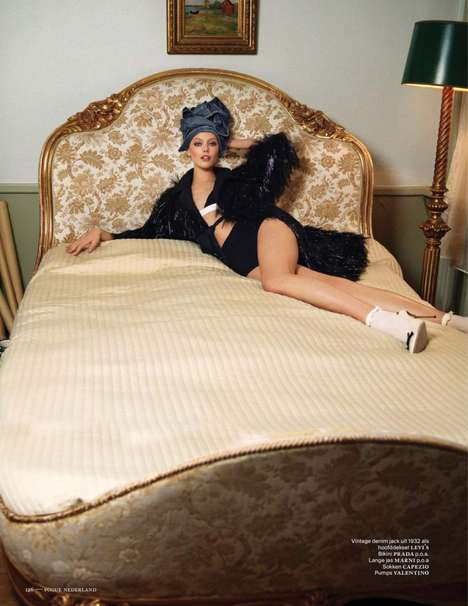 Luxury Retro Hotel Photography - The Frida Gustavsson Vogue Netherlands Jan-Feb Editorial is Vintage