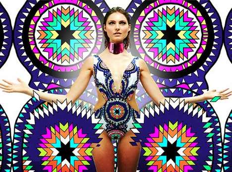 Chromatic Symmetrical Swimwear