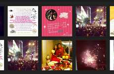 Social Media Holiday Celebrations - The Instagram New Years Page Features Festive Images