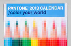 Pixelated Paint Chip Calendars