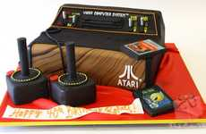 Retro Game Console Confections - The Atari Video Game Cake Fulfills any Gamers Dream