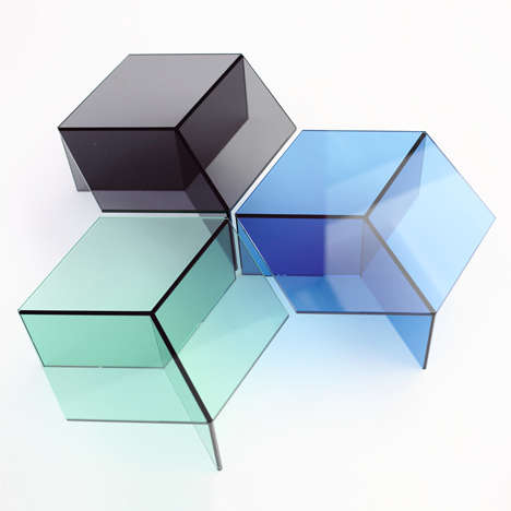 Geometrical Glass Furniture