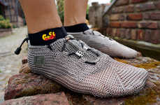 Sleek Steel Shoes - Medieval Meets Modern Function in These Chainmail Shoes
