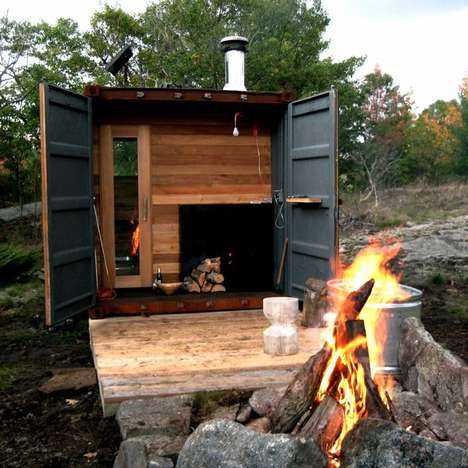 Portable Steel Saunas - The Sauna Box Allows for a Steamy Good Time Anywhere You Travel