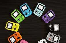 Old School Gamer Magnets - These Perler Bead GameBoy Fridge Accessorizes Showcase a Classic Gadget