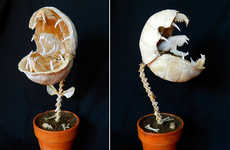 Alienesque Plant Sculptures - Audrii Muscipula by Tim Price Looks Like a Venus Flytrap