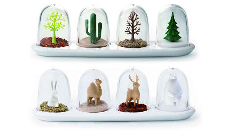 Snow Globe Spice Containers
