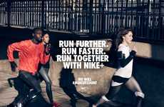 Motivational Athletic Resolutions - The Nike Running 2013 Campaign Hits the World with a Hashtag