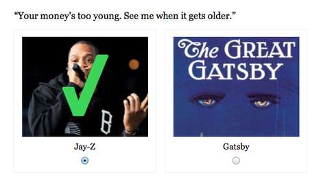Gangster Gatsby Quizzes - The Jay-Z or Great Gatsby Quote Quiz Will Leave You Surprised