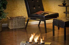 Modern Mobile Fireplaces - Stay Warm with the Holly & Martin Portable Indoor Outdoor Fireplace