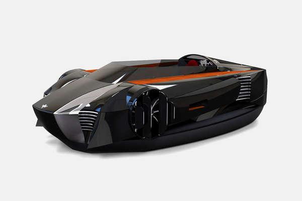 21 Levitating Hovercrafts