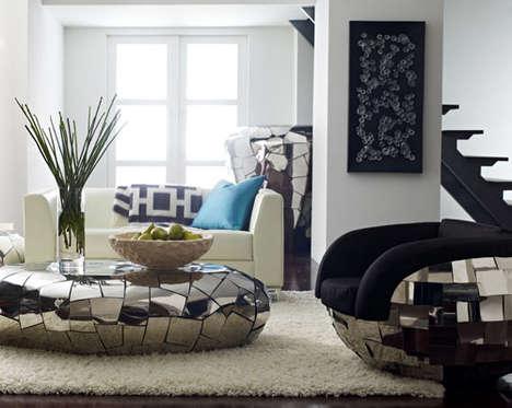 Puzzle-Like Chrome Furniture