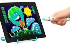 Motion-Controlled Tablet Pens - This Crayola Device Turns the iPad Into an Interactive Coloring Book