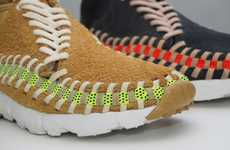 Baseball Seam Sneakers - The Nike Footscape Woven Chukka Knit Look Exactly Like Baseballs