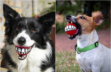Grinning Dog Gadgets - The Rogz Grinz Ball Dog Toy Gives Dogs Something to Smile About