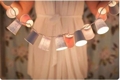 DIY Paper Cup Lights - This Totally Love It Garland is Cost-Effective and Chic