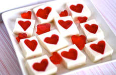 Sentimental Gelatin Snacks - Celebrate Romance with the Hungry Housewife Valentines Recipe