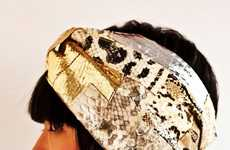 Textured Serpentine Turbans - The YGA Collective Limited Edition Snakeskin Headgear is Re-Purposed