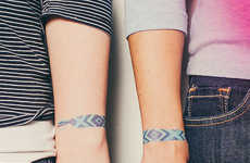 Friendship Bracelet Tattoos - These Temporary Tattoos are Perfect to Symbolize Your Relationship