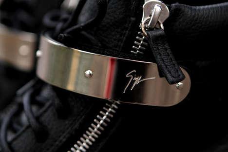 Metallic Hardware Footwear