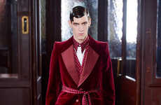 Modern Robed Menswear - The Alexander McQueen Autumn/Winter Line is Draped