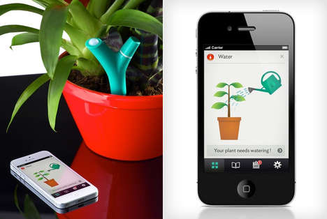 Sensory Plant Detectors - The Flower Power App by Parrot Lets You Digitally Monitor Your Plants