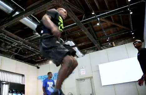 Sky-High Jump-Offs - Nike Puts Their Nike+ Device to Work in this Jumping Contest