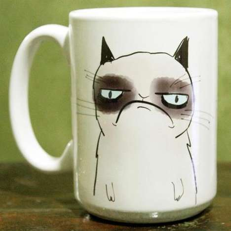 Frowning Feline Mugs - The Grumpy Cat Mug is the Best Accompaniment For the Crabby Morning Type