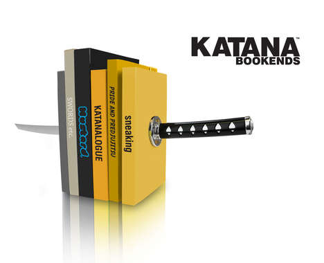 The Katana Bookend Will Keep Your Ninja Documents in Order