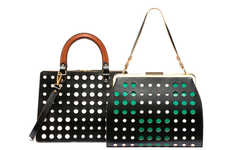 Playful Perforated Purses - The Marni Polka Dot Bag Collection are Vibrantly Sophisticated