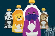 Cartoony Baby Food Branding - Squooshi Packaging Appeals to the Eyes, the Tummy and the Planet