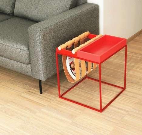 Sling-Inserted Side Tables