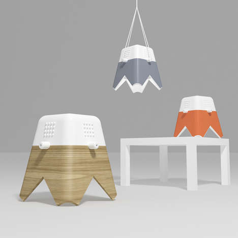 Boxy Flower-Inspired Lighting