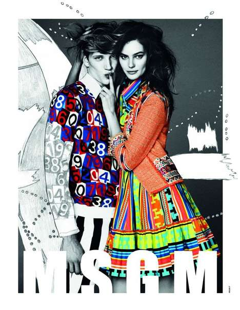 Color-Collaged Couple Campaigns