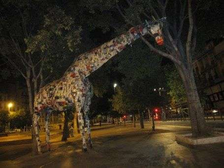 Bookish Giraffe Sculptures