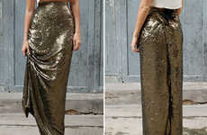 Sequin-Encrusted Maxi Skirts - Light Up Any Room in This 'a pair and a spare' DIY Fashion