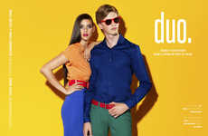 Color-Blocked Couple Captures - The Kenton Duo Fashion Story Showcases Affordable Luxury