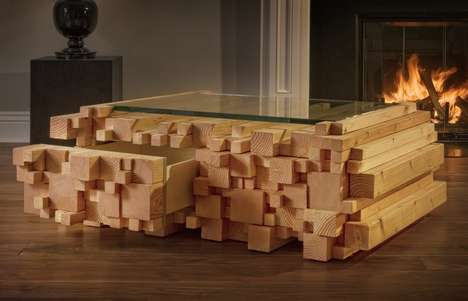 Wood-Stacked Tables