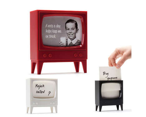 Retro TV Note Stands