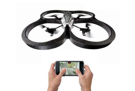 Helicopter Toy Cameras - The Parrot AR Drone QuadriCopter Lets You Capture Images from the Air