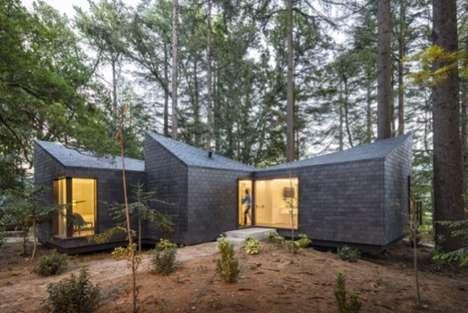Contemporary Shingle-Clad Cabins