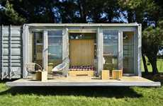 Compact Portable Houses - The Port-a-Bach Container Home Provides Freedom of Movement