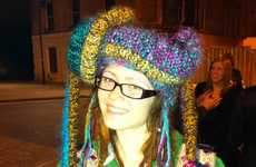 Rainbow Rasta Toques - The Funky Chunky Knit Hat Chases Away Winter Blues