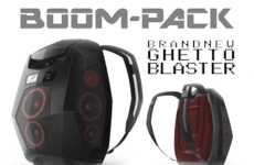Ghetto Blaster Backpacks - The Boompack is a Wearable Multimedia Entertainment Unit for the Streets